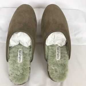 Derek Rose Open Back Suede Slippers
